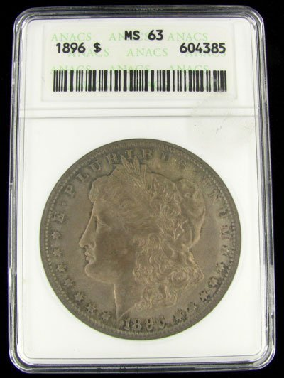 1896 U.S. Morgan Silver Dollar Coin - Investment