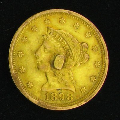 1898 $2.5 U.S. Liberty Head Type Gold Coin - Investment