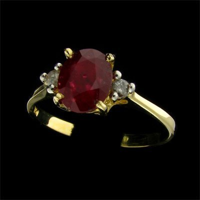 14 kt. Gold, Ruby & Diamond Ring