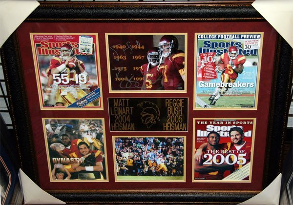 Matt Leinart/Reggie Bush Authentic Signatures Collage