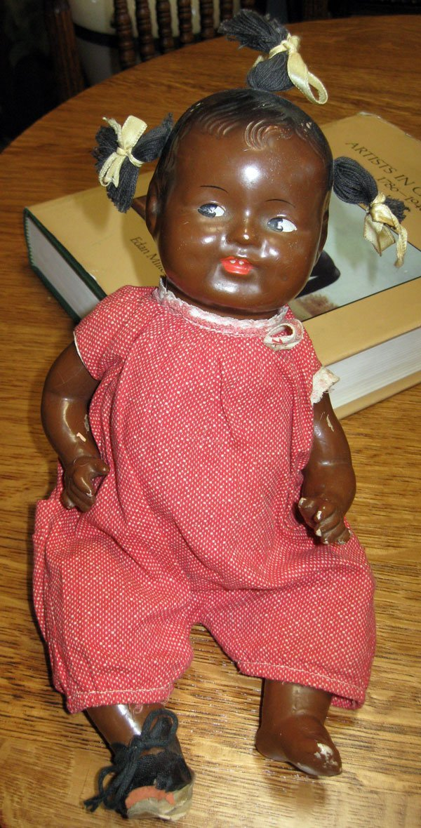 Antique 1930's Topsy Doll-GEM Co.-Marked