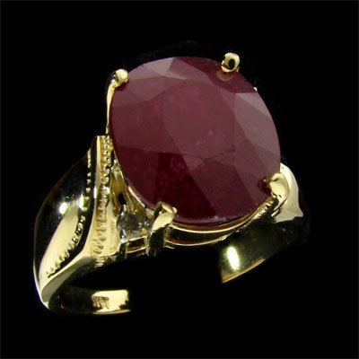 APP: 10.4k 14 kt. Gold, 9.10CT Ruby & Diamond Ring