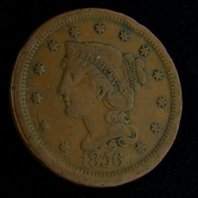 1856 Liberty Head  One Cent Coin - Investment