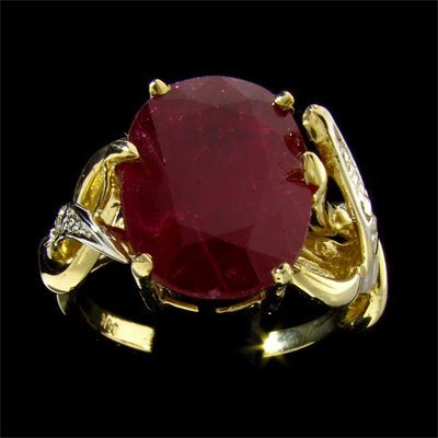 APP: 12.9k 14 kt. Gold, 7.62CT Ruby & Diamond Ring