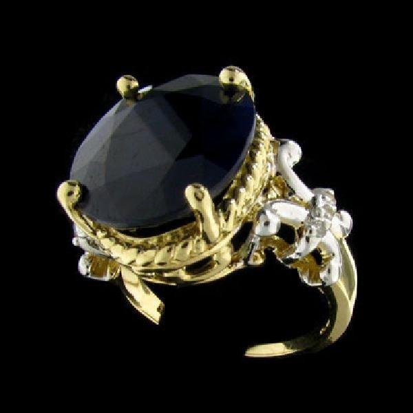 APP: 10.2k 14 kt. Gold, 11.09CT Sapphire & Diamond Ring
