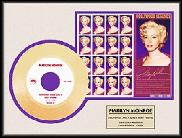 Monroe''Diamonds Are A Girl's Best Friend'' Gold Record