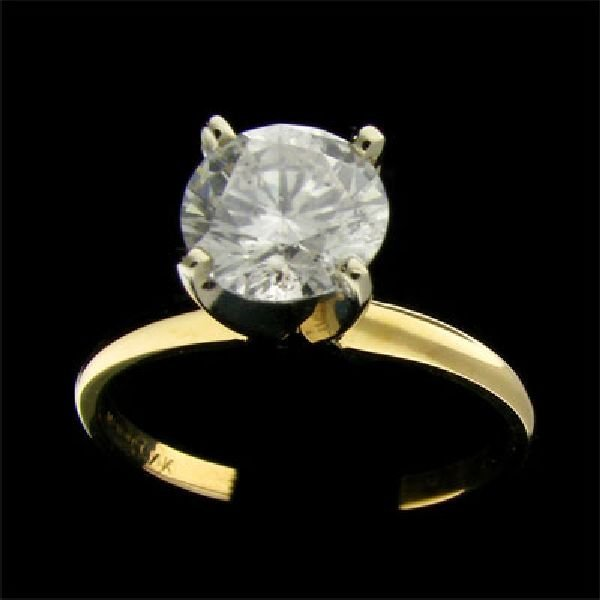 APP: $10.8k 14 kt. Gold, 1.42CT Diamond Ring