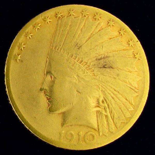 1910 U.S. $10 Indian Head Gold Coin - Investment