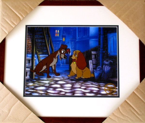 Limited Ed. Walt Disney Lady & The Tramp Serigraph Cel
