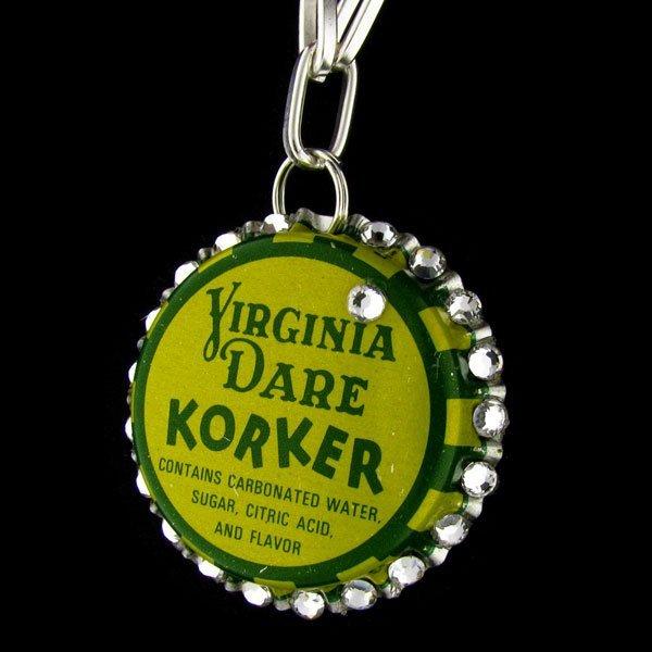 Swarovski Crystal Bottle Cap Necklace - Virginia Dare