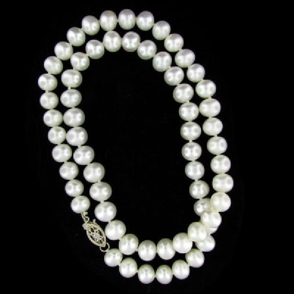 Single Strand 16'' 7mm Freshwater Pearl Necklace