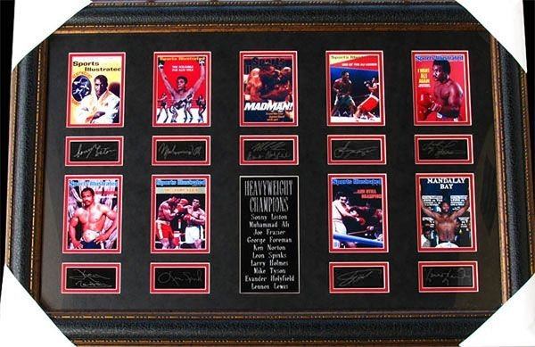Boxing Heavyweight Champs Collage Facsimile Autographed