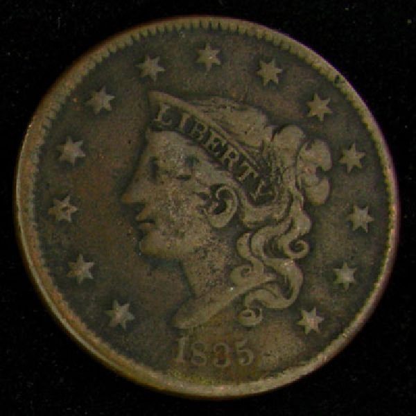 1885 Liberty Head Type One Cent Coin - Investment