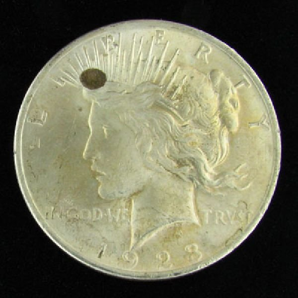 1923 U.S. Peace Silver Dollar Coin - Investment