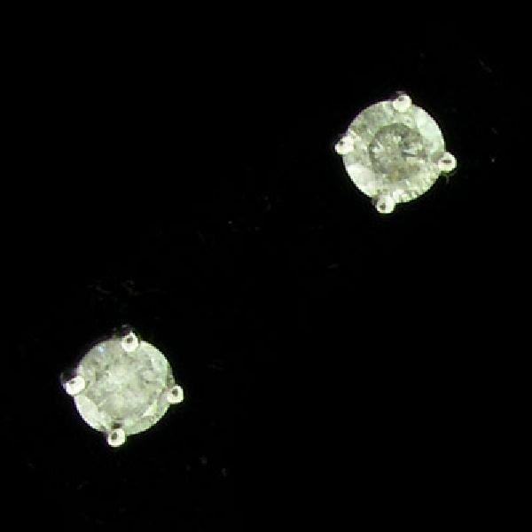 APP: $2.3k 14 kt. White Gold, 0.85CT Diamond Earrings