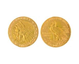1915 $2.50 U.S. Indian Head Gold Coin- Great