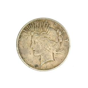 1927-S U.S. Peace Type Silver Dollar Coin