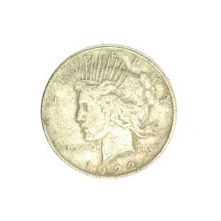 1922 U.S. Peace Type Silver Dollar Coin