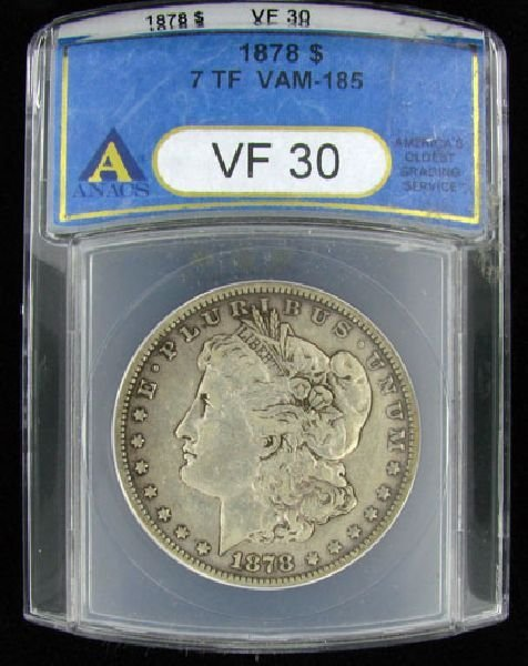 1878 U.S. Morgan Silver Dollar Coin - Investment