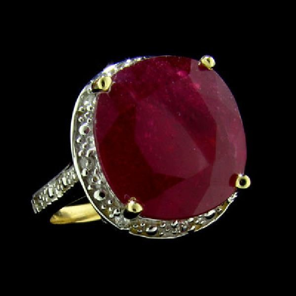 APP: $21k 14 kt. Gold, 10.37CT Ruby & Diamond Ring