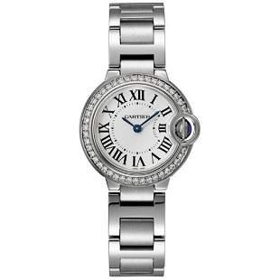 Cartier Women's Ballon Bleu Diamond Round Stainless