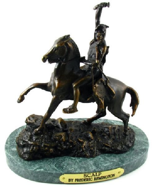 Frederic Remington Bronze Reproduction - Scalp