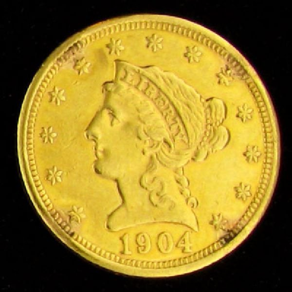 1904 $2.5 U.S. Liberty Head Type Gold Coin - Investment
