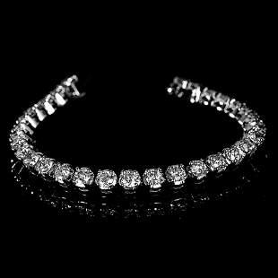 APP: 20.6k *Fine Jewelry 14KT. White Gold, 8.06CT Round
