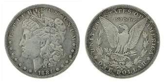 Rare 1884-O U.S. Morgan Silver Dollar Coin - Great
