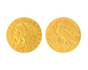 1927 US $2.50 Dollar Indian Head Gold Coin Great