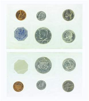 Rare 1964 U.S. Philadelphia Mint Silver Proof Coin Set
