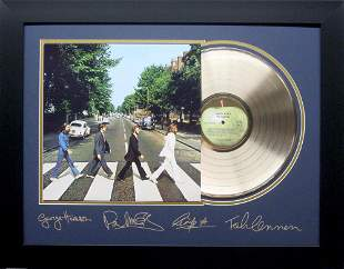 *Rare The Beatles Abbey Road Album Cover and Gold