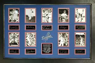 *Rare L.A. Dodger Legends Museum Framed Collage - Plate
