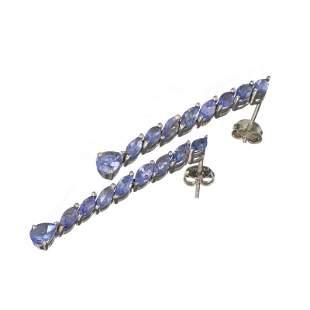 APP: 2.6k Fine Jewelry 2.56CT Mixed Cut Tanzanite And