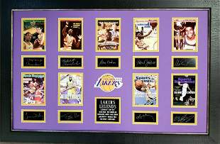 *Rare L.A. Laker Legends Museum Framed Collage - Plate