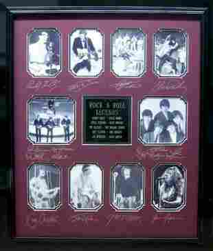 *Rare Rock & Roll Legends Museum Framed Collage - Plate