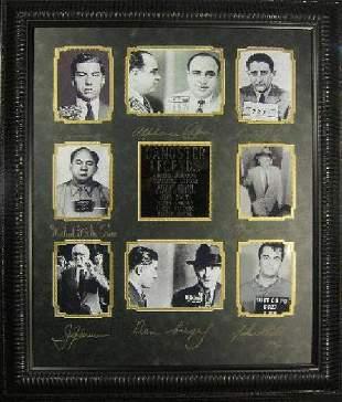 *Rare Gangster Legends Museum Framed Collage - Plate