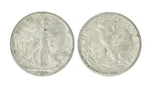 Rare 1943 Early Date U.S. Walking Liberty Half Dollar