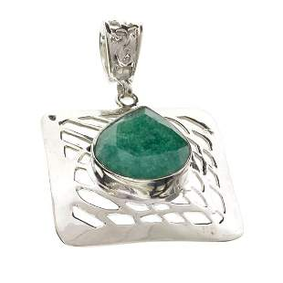 Fine Jewelry Designer Sebastian 13.26CT Pear Cut Green