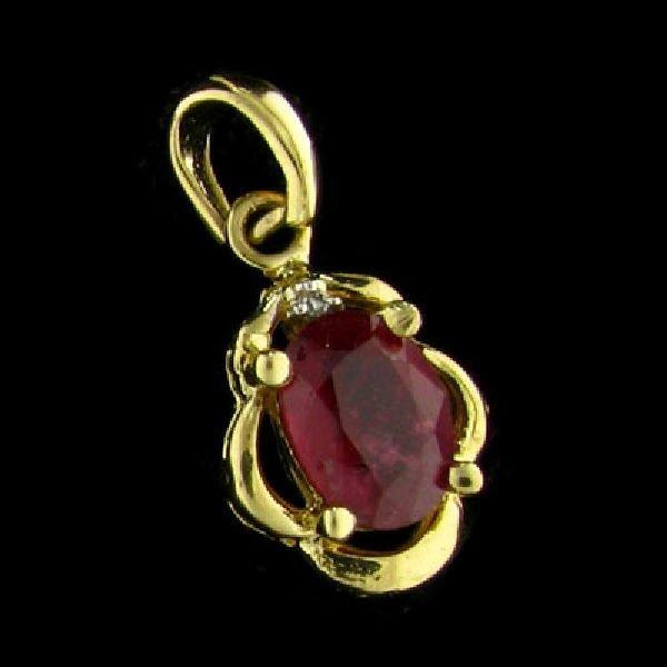 14 kt. Gold, Ruby Pendant