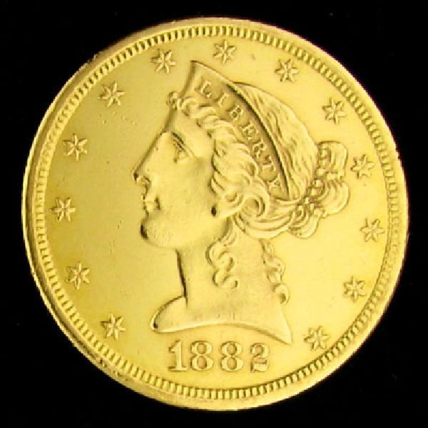 1882-S $5 U.S. Liberty Head Type Gold Coin - Investment