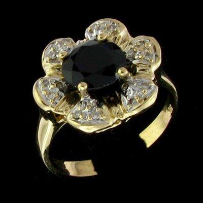APP: 4.1k 14 kt. YW Gold, 5.8CT Sapphire & Diamond Ring