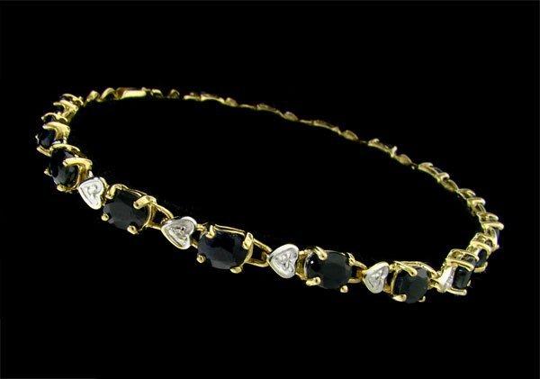 APP: 2.3k 14kt. Gold 6.88CT Sapphire & Diamond Bracelet
