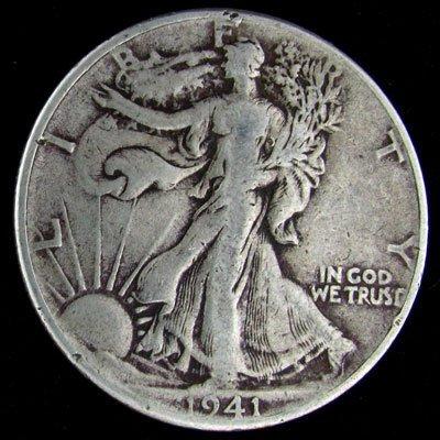 1941 U.S. Walking Liberty Half Dollar Coin - Investment