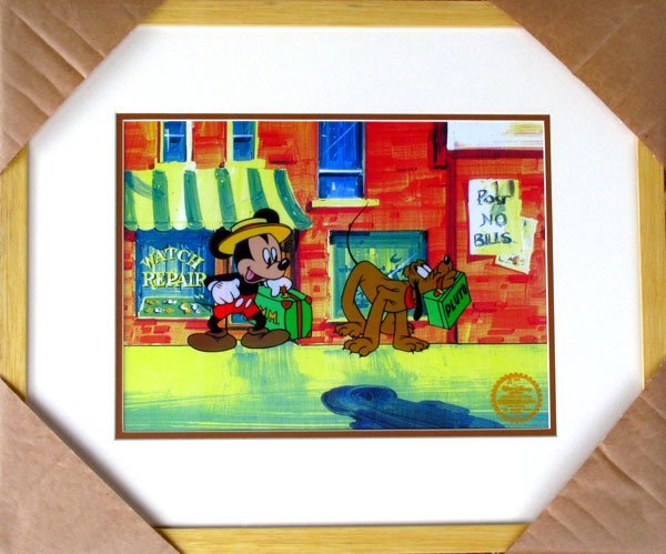 Limited Edition Walt Disney Mickey and Pluto Serigraph