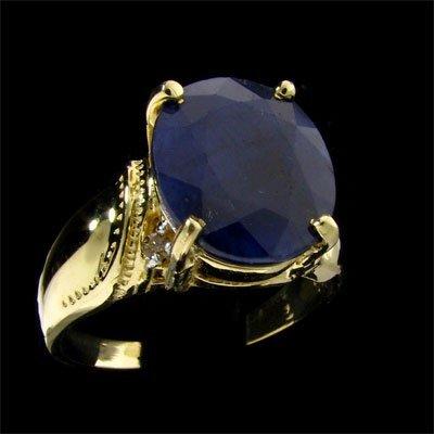 APP: $3.8k 14 kt. Gold, 6.44CT Sapphire & Diamond Ring