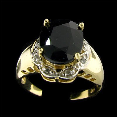 APP: $4.2k 14 kt. Gold, 4.44CT Sapphire & Diamond Ring
