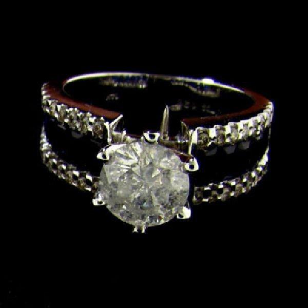 APP 9.7k 14kt White Gold 1.26CT Diamond & Sapphire Ring