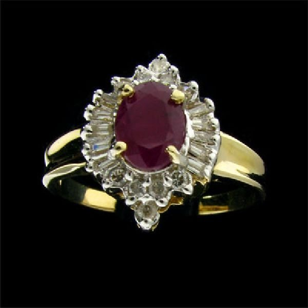 APP: $2.2k 14 kt. Gold, 0.68CT Ruby and Diamond Ring