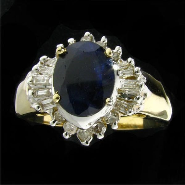 APP: 2.6k 14 kt. Gold, 1.27CT Sapphire and Diamond Ring